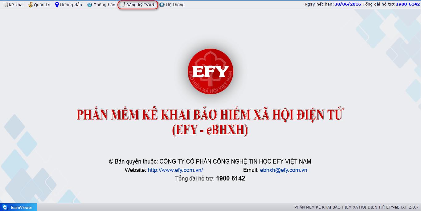 Bảo hiểm xã hội điện tử IVAN của EFY