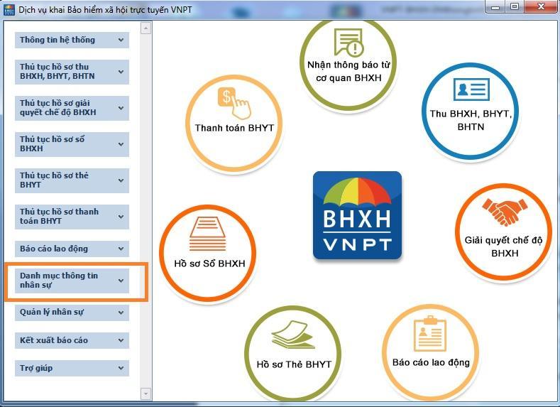 Các chức năng bảo hiểm xã hội điện tử VNPT